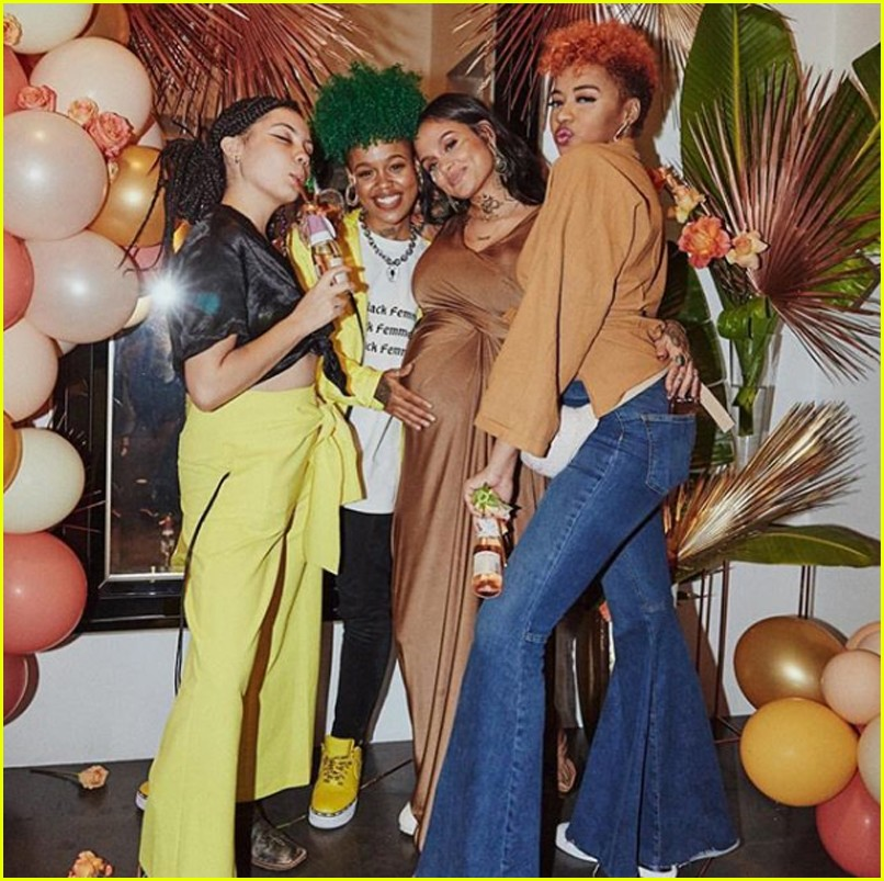 kehlani shares stunning photos from baby shower 11