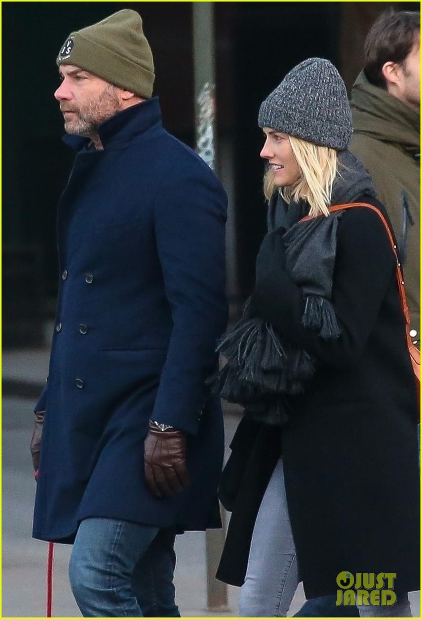 Liev Schreiber & Girlfriend Taylor Neisen Bundle Up For ...