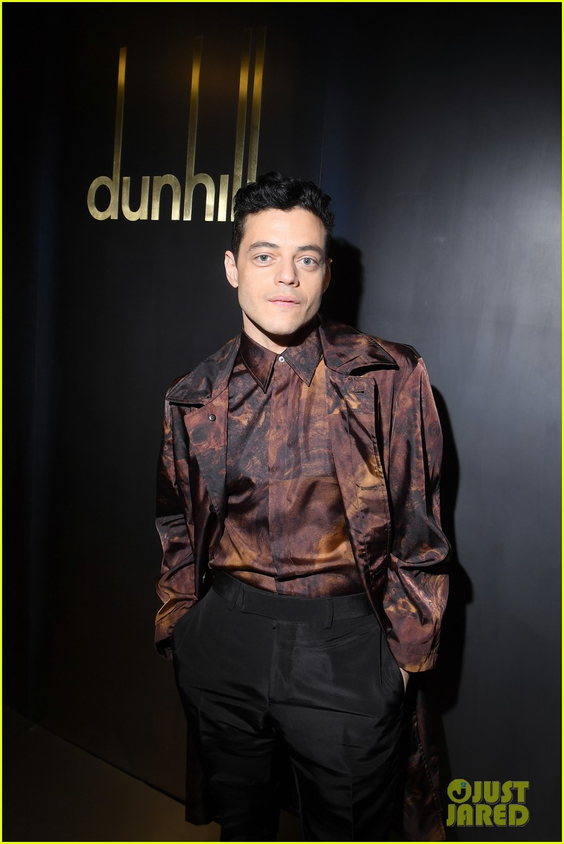 rami malek joe alwyn riz ahmed step out for dunhill fashion show in paris 02