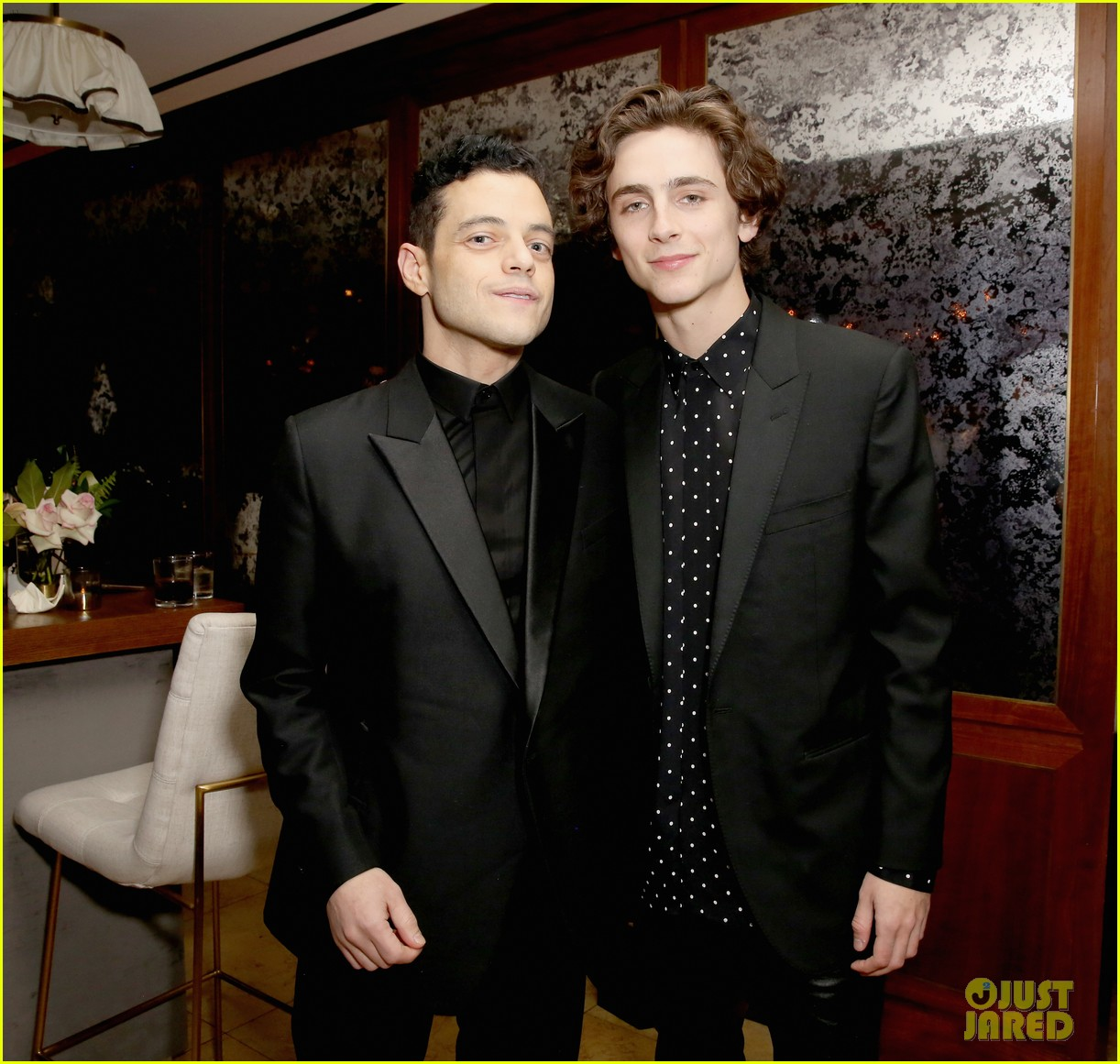 rami malek timothee chalamet more live it up at netflix sag awards after party 324219206