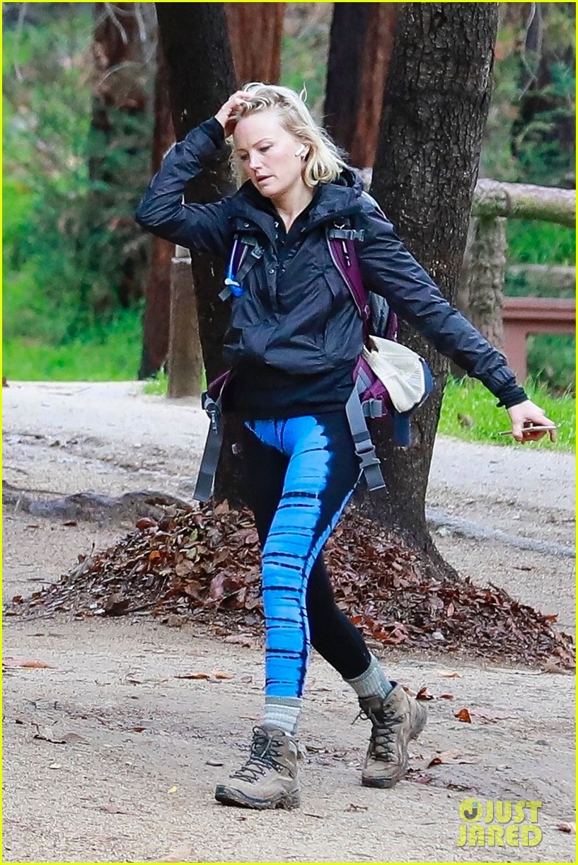 malin akerman braves rainy weather for afternoon hike 034213171