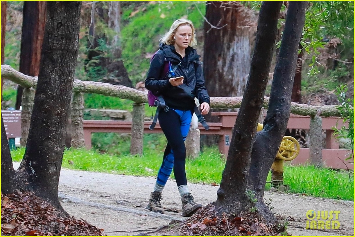 malin akerman braves rainy weather for afternoon hike 054213173