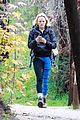 malin akerman braves rainy weather for afternoon hike 01