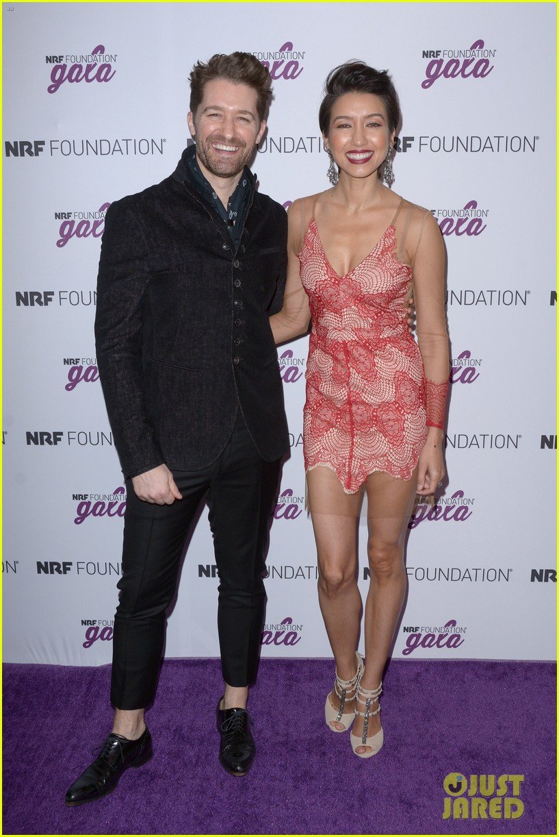 matthew morrison wife renee couple up at nrf foundation gala 2019 09