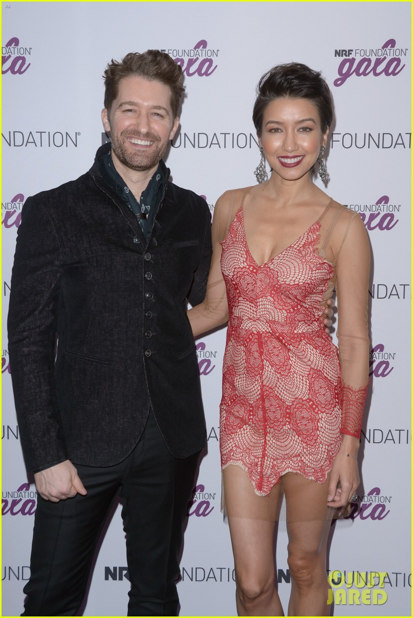 matthew morrison wife renee couple up at nrf foundation gala 2019 10