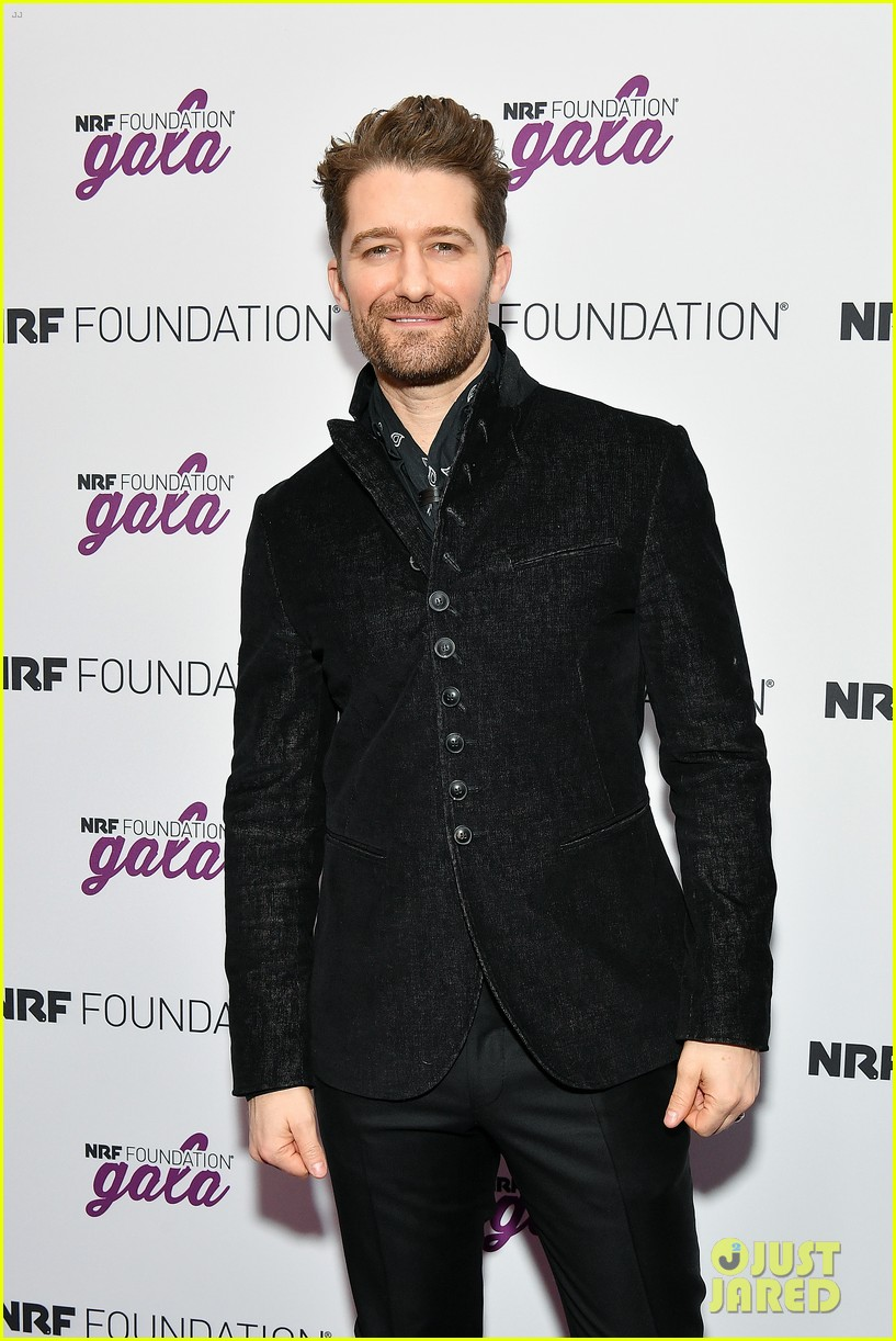 matthew morrison wife renee couple up at nrf foundation gala 2019 22