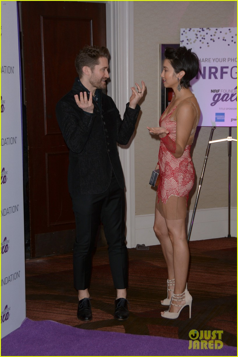 matthew morrison wife renee couple up at nrf foundation gala 2019 23