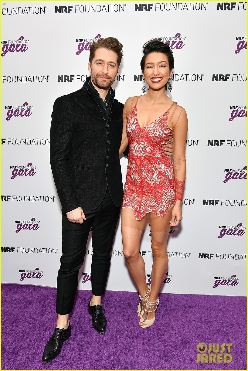 matthew morrison wife renee couple up at nrf foundation gala 2019 24