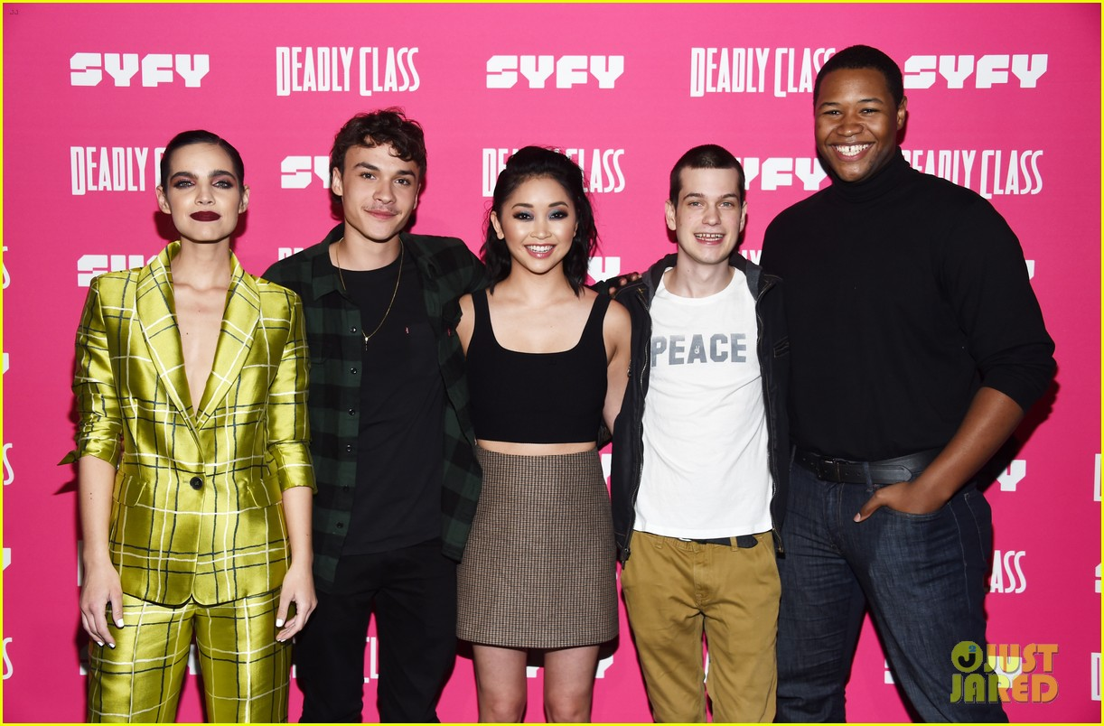 janel parrish supports lana condor at deadly class premiere 024205376
