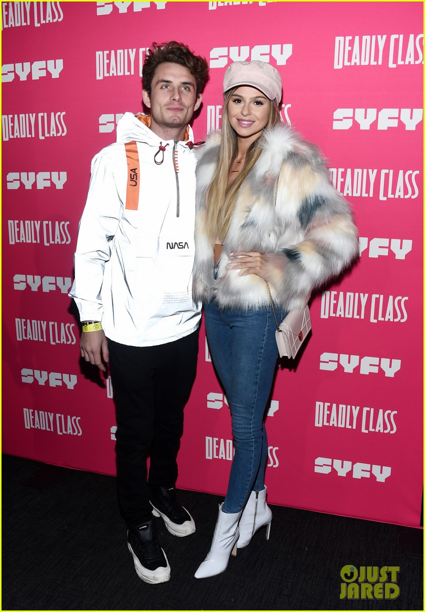 janel parrish supports lana condor at deadly class premiere 034205377