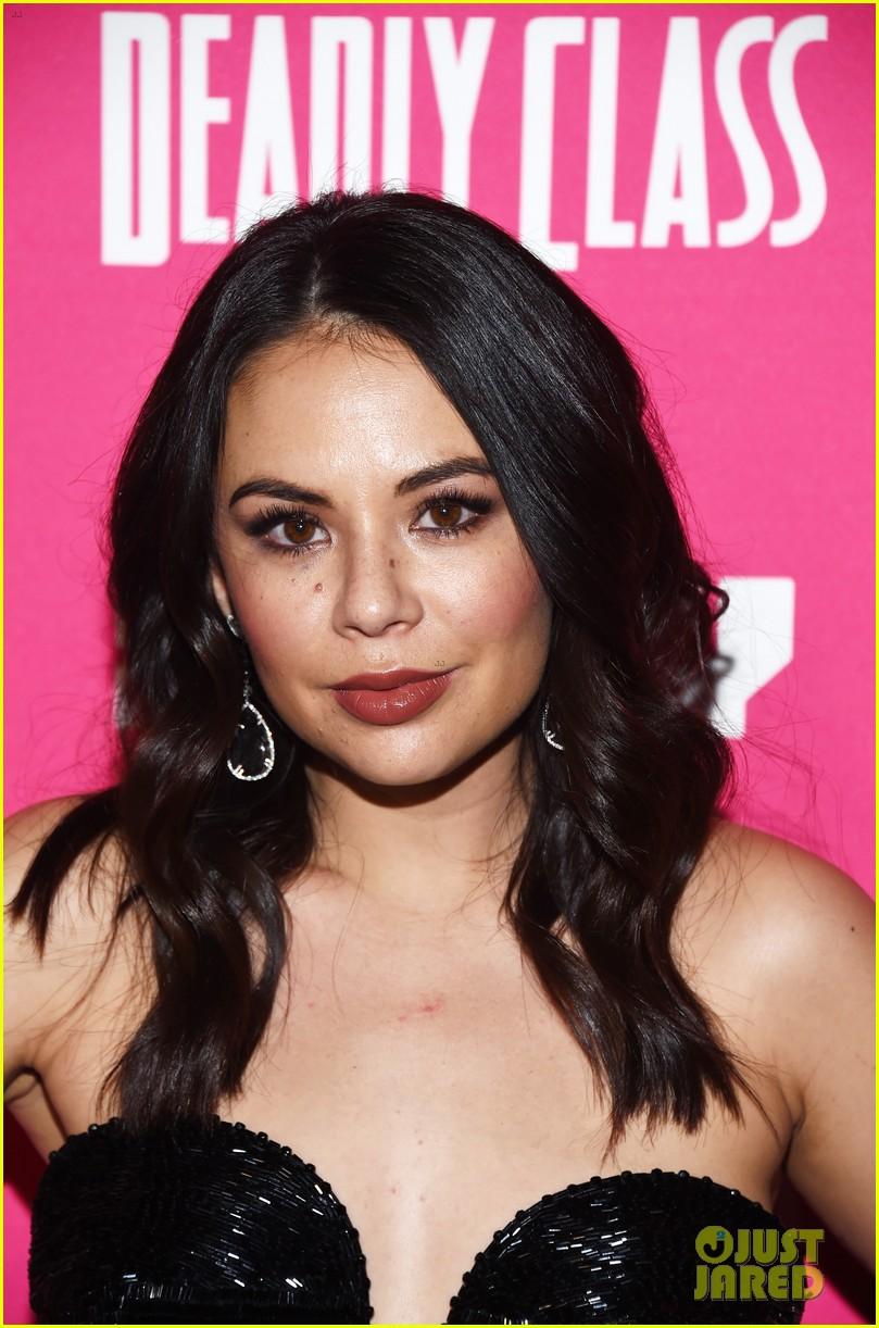 janel parrish supports lana condor at deadly class premiere 084205382