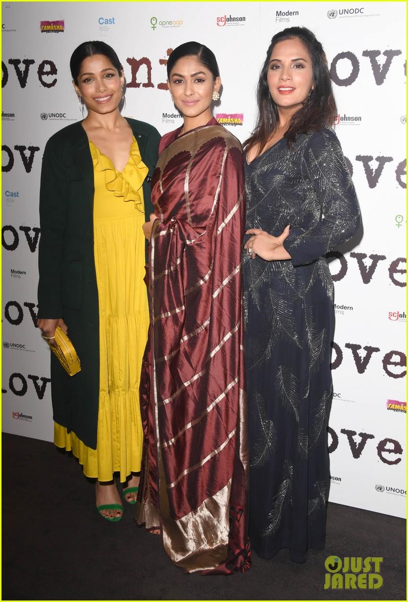 freida pinto dons bright yellow dress at love sonia uk premiere 02
