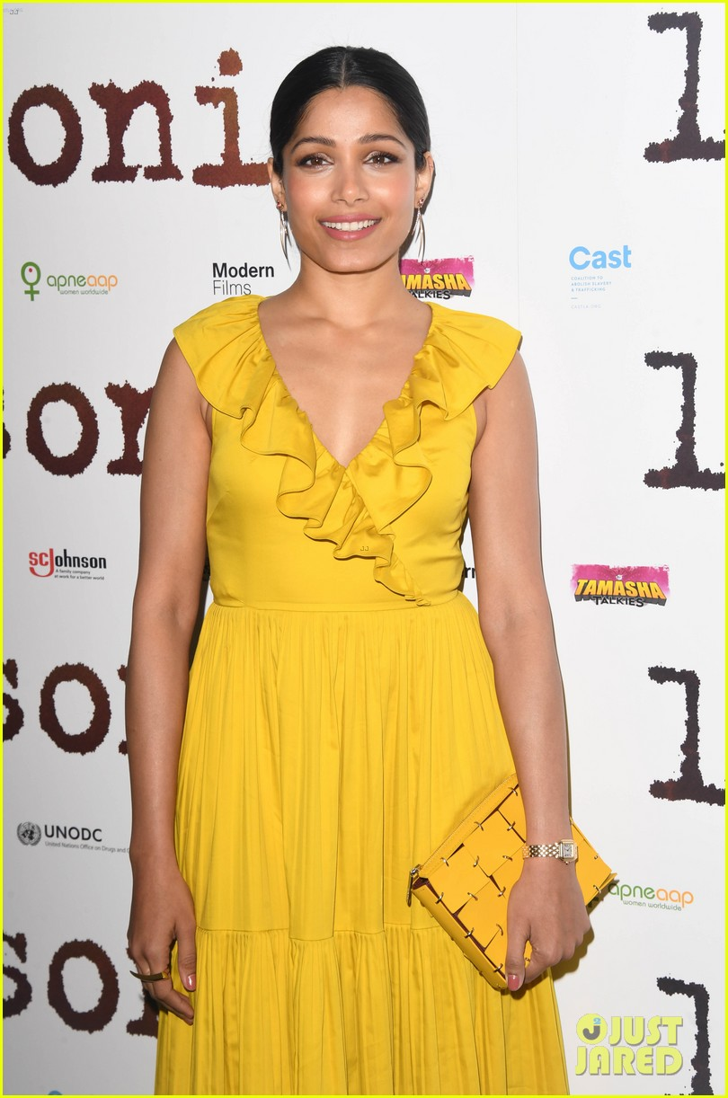 freida pinto dons bright yellow dress at love sonia uk premiere 06