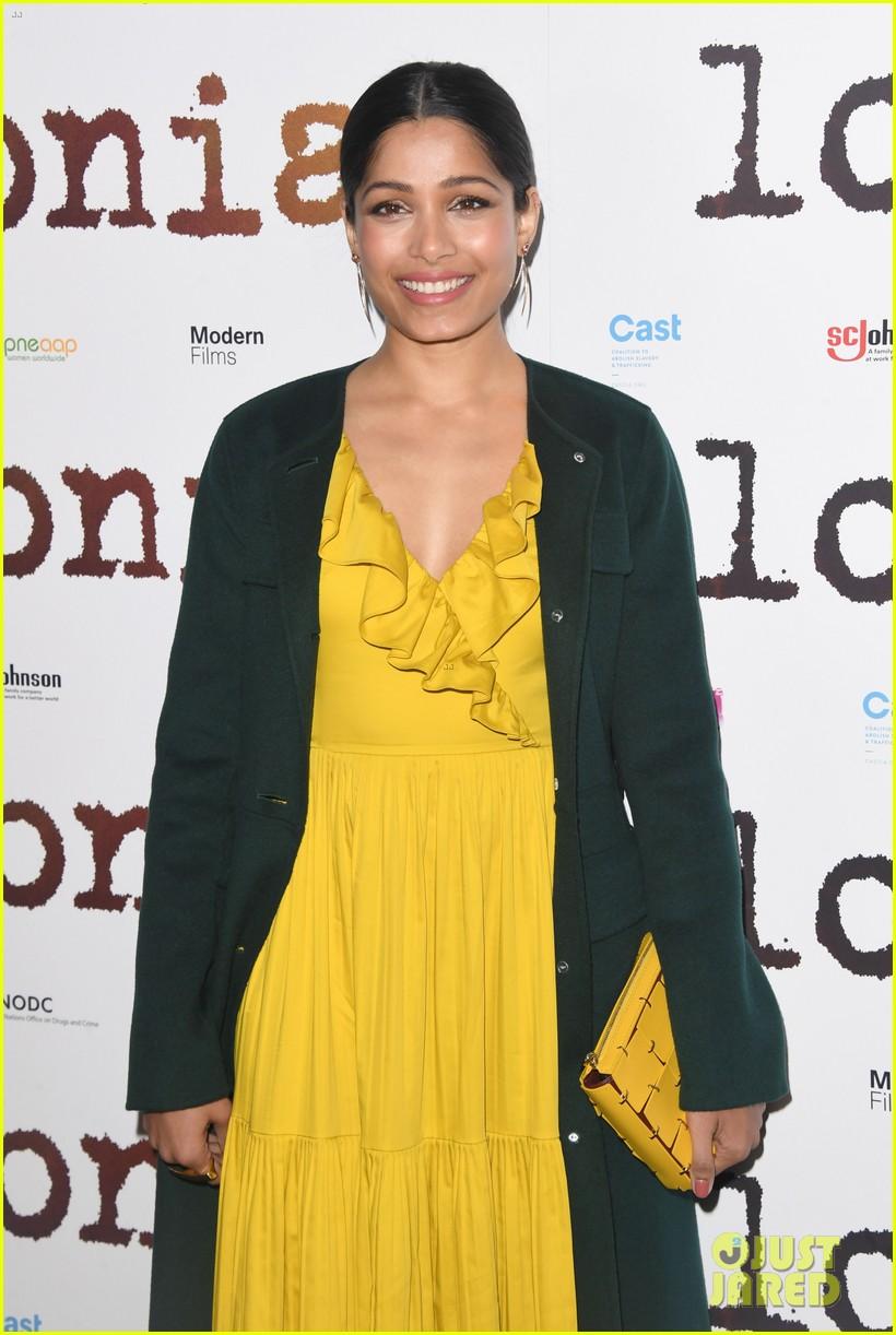 freida pinto dons bright yellow dress at love sonia uk premiere 09