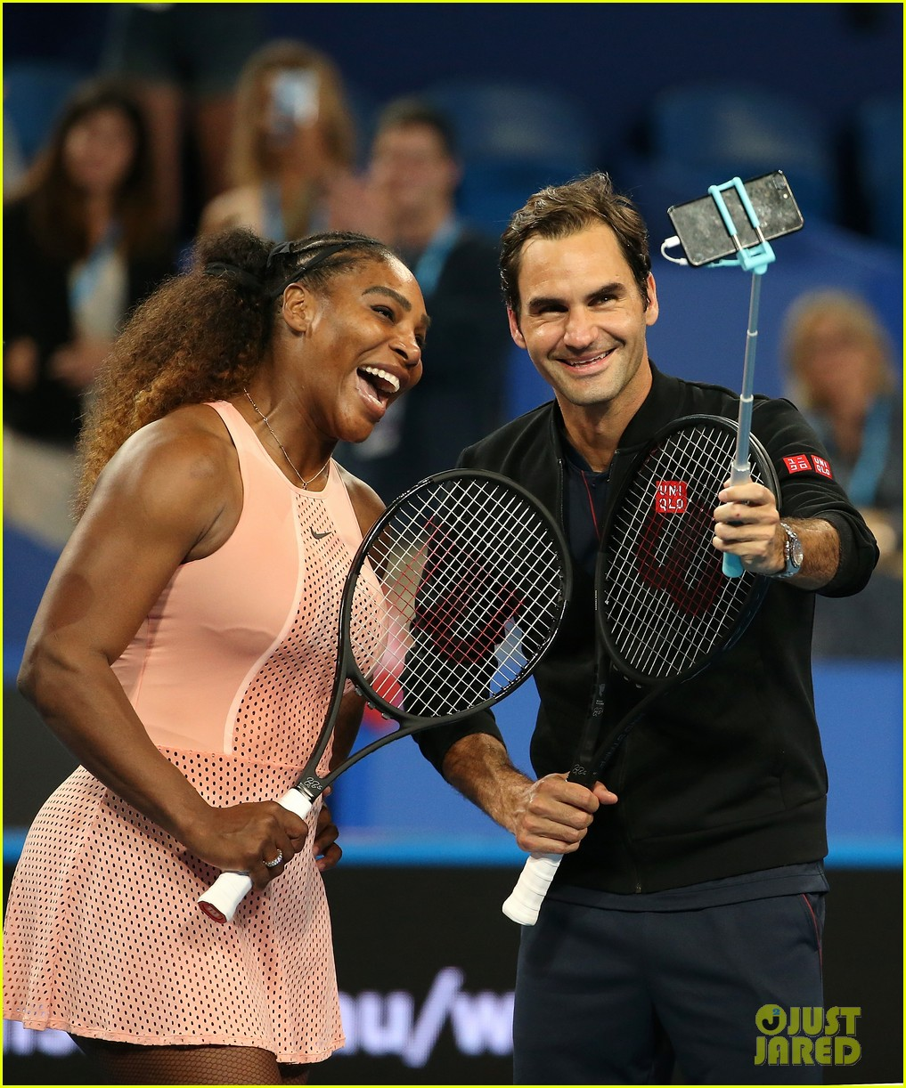 roger federer defeats serena williams in mixed doubles tournament 16