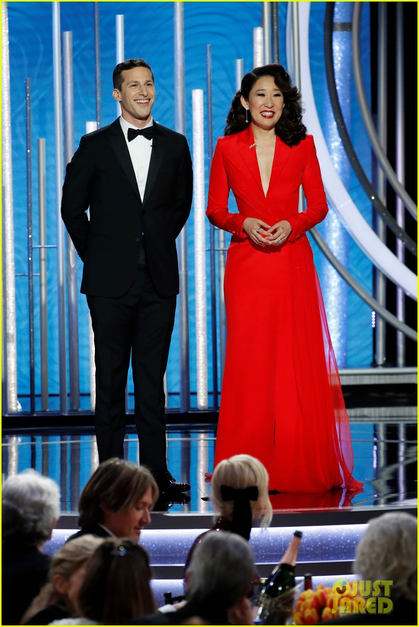 sandra oh andy samberg monologue golden globes 074207381