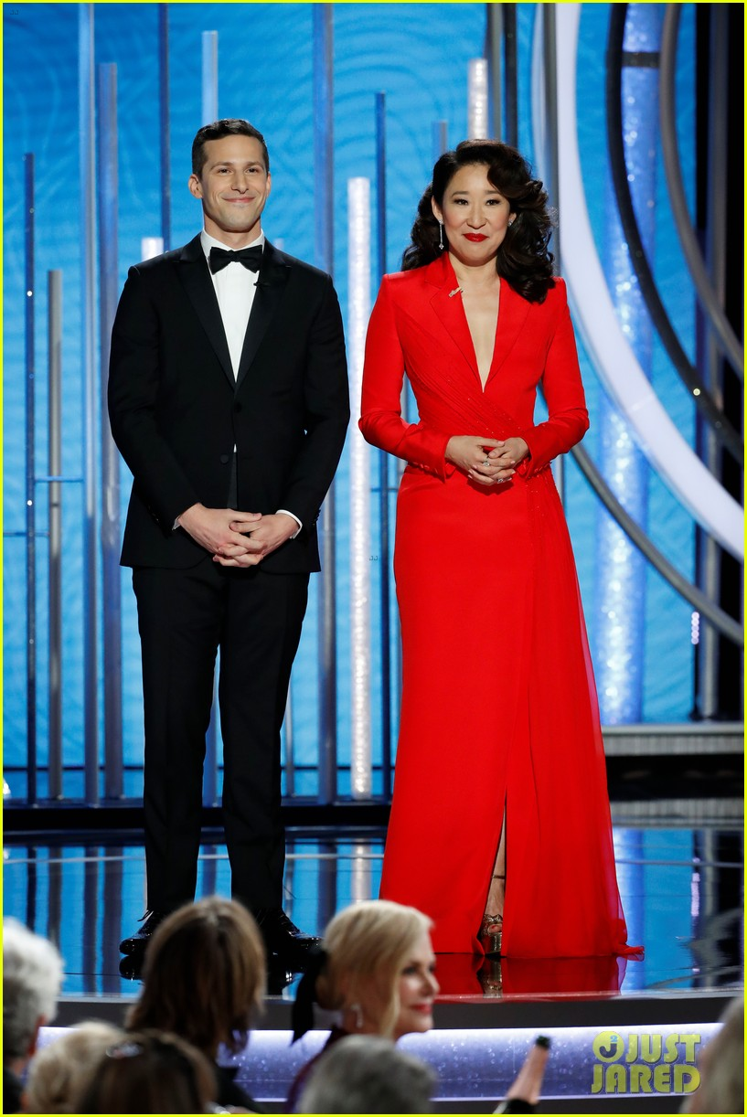 sandra oh andy samberg monologue golden globes 094207383