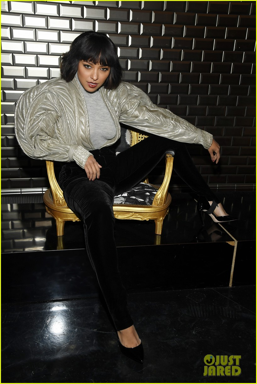 irina shayk kat graham sit front row at jean paul gaultier paris fashion show 03
