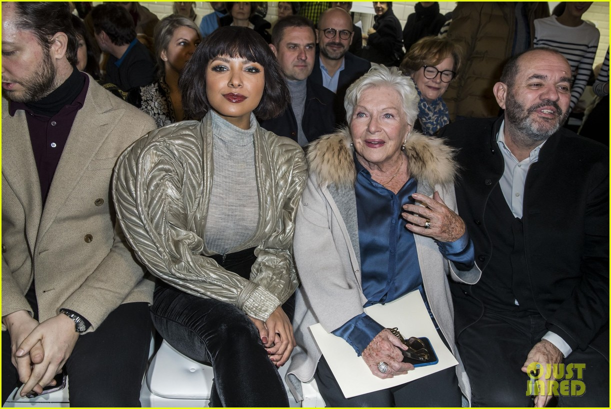 irina shayk kat graham sit front row at jean paul gaultier paris fashion show 17