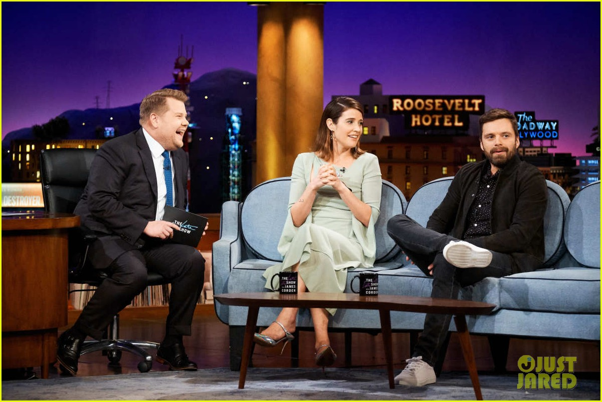 cobie smulders sebastian stan field avengers theories on late late show 01