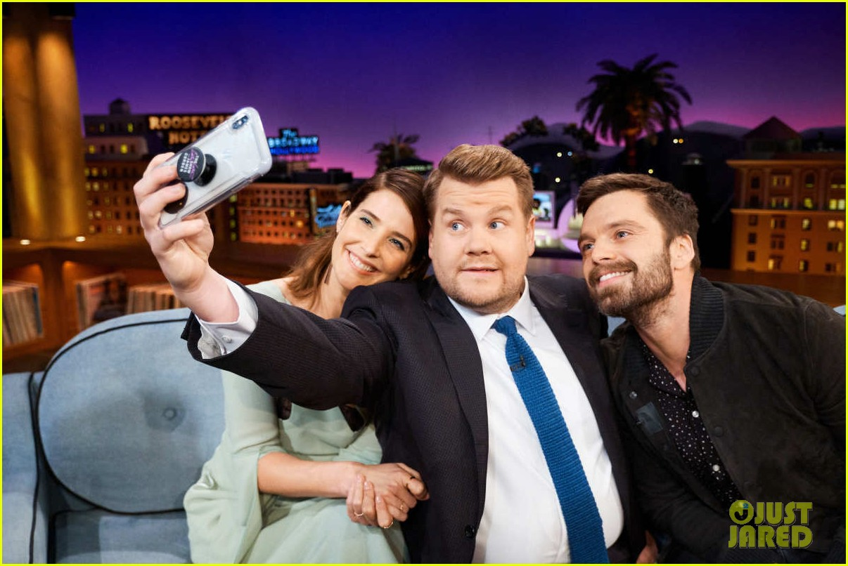 cobie smulders sebastian stan field avengers theories on late late show 05
