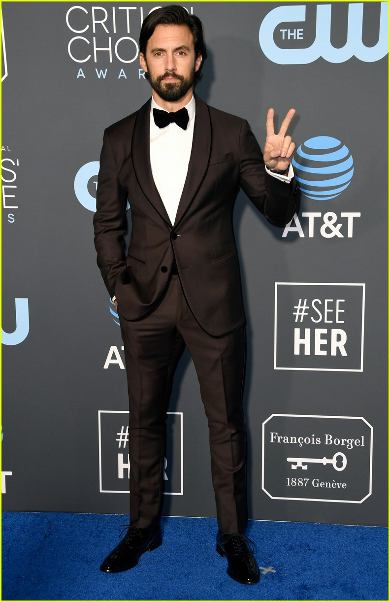 Milo Ventimiglia Suits Up for Critics' Choice Awards 2019 ...