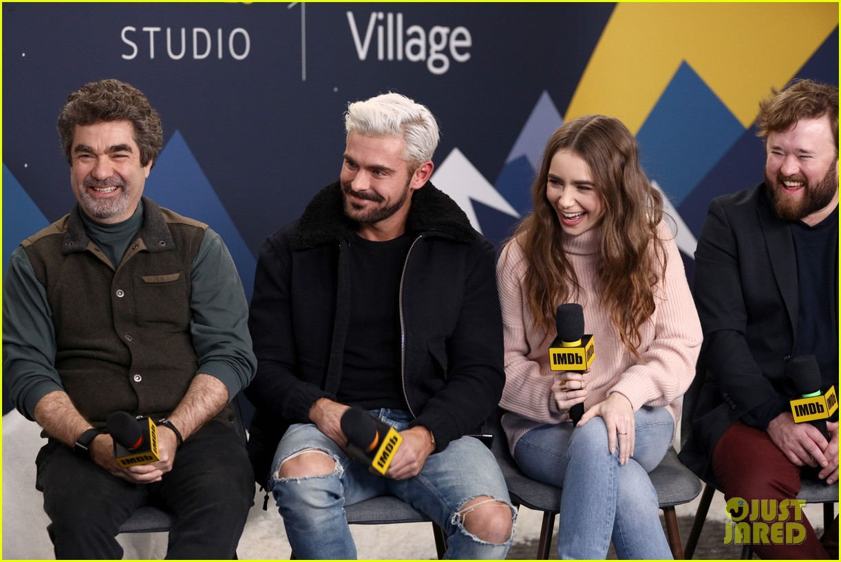 Zac Efron Debuts Bleached Blonde Hair At Sundance Film Festival 2019 Photo 4217143 2019 Sundance Film Festival Angela Sarafyan Haley Joel Osment Lily Collins Zac Efron Pictures Just Jared