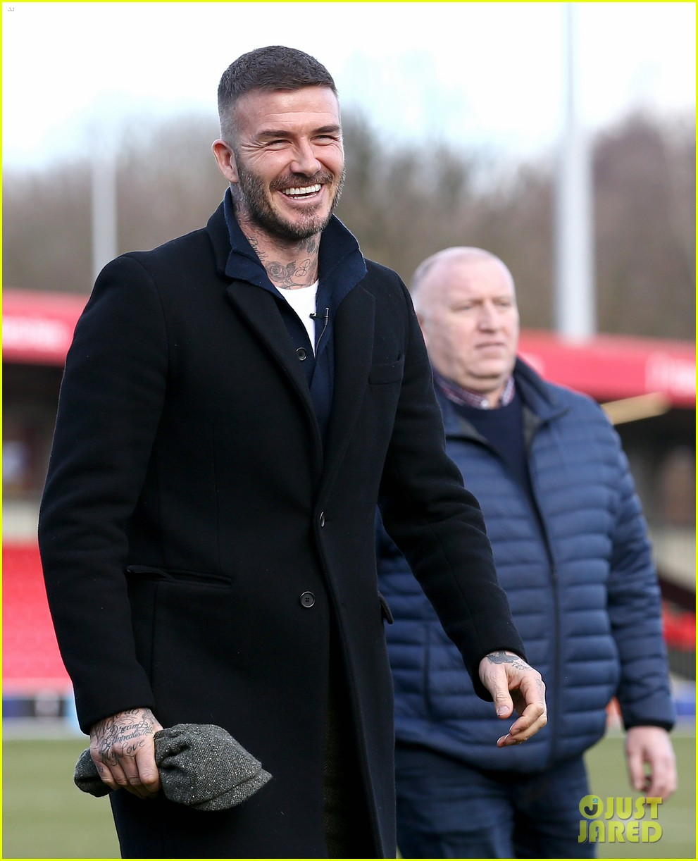 david beckham attends salford city game 01