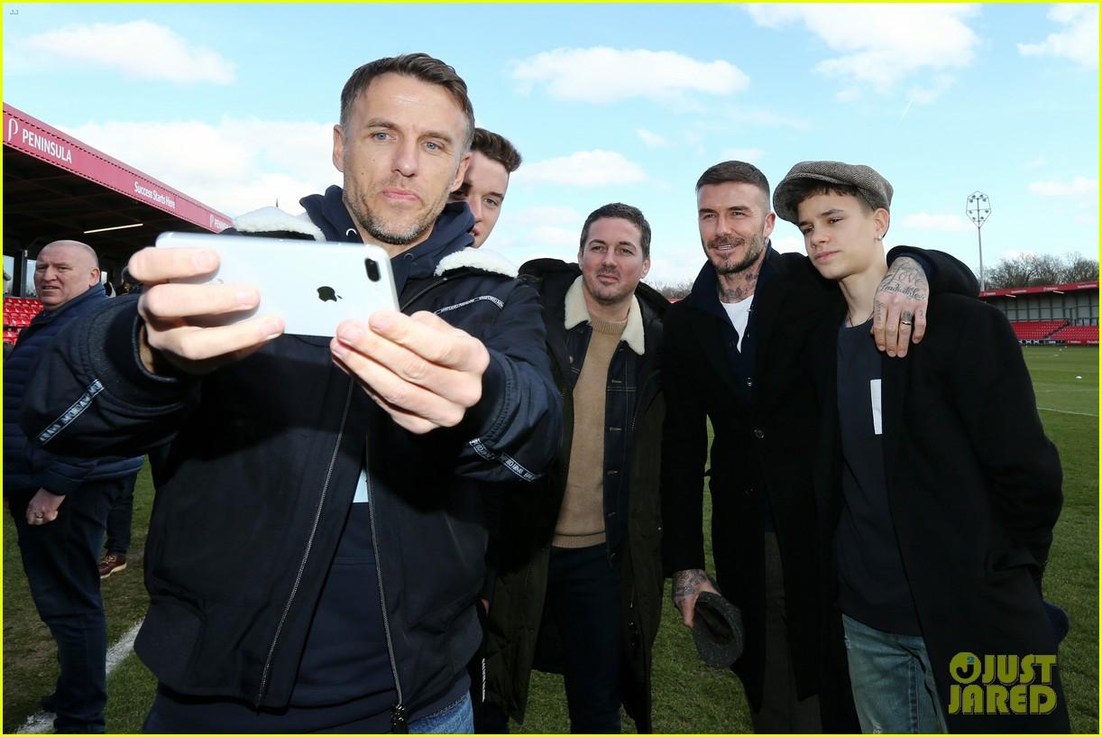 david beckham attends salford city game 04