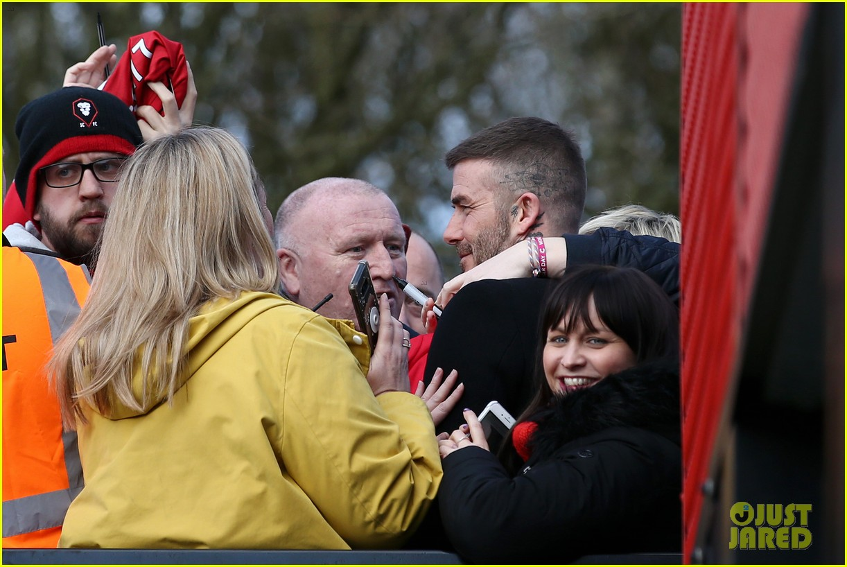 david beckham attends salford city game 07