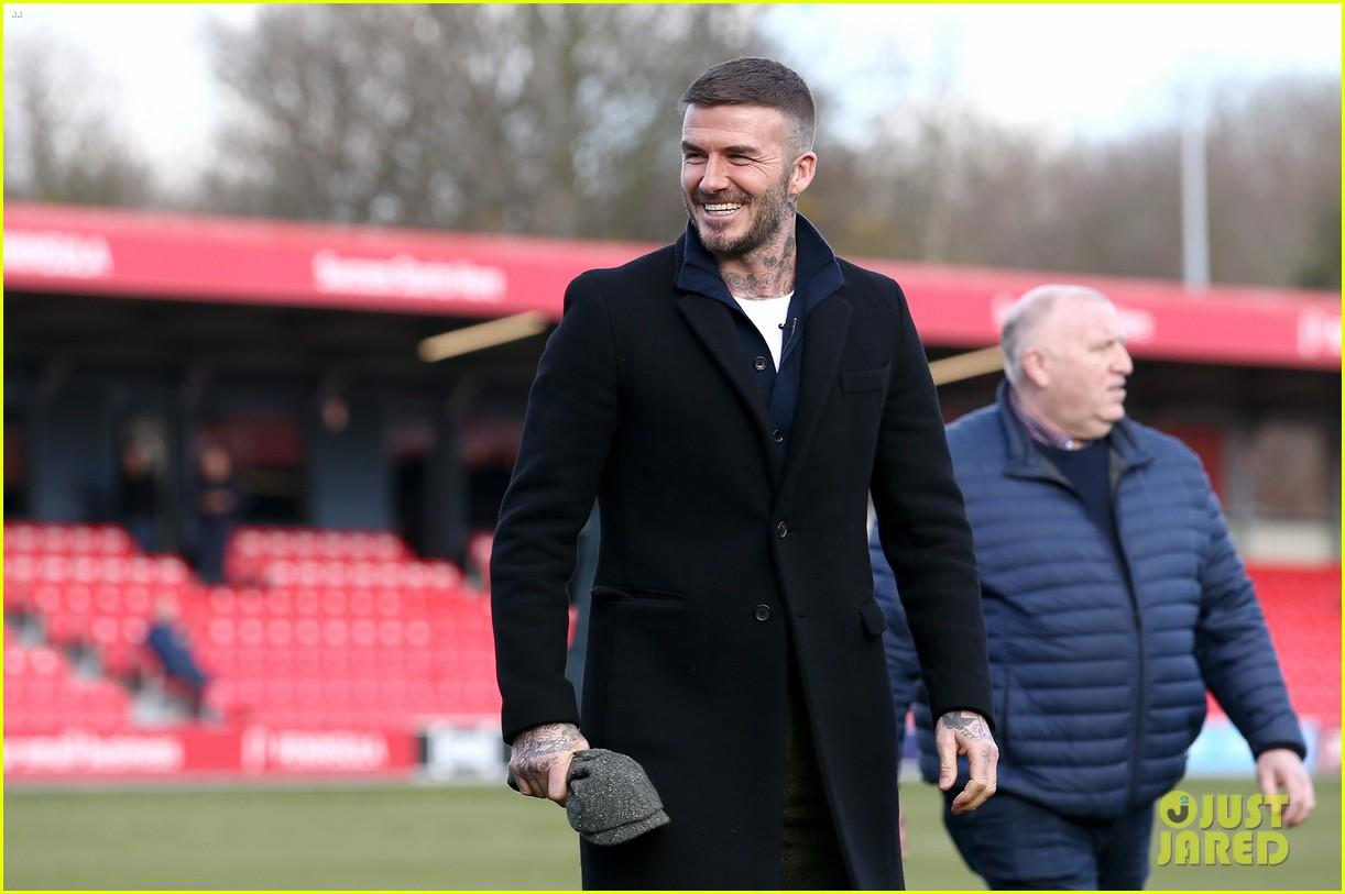 david beckham attends salford city game 10