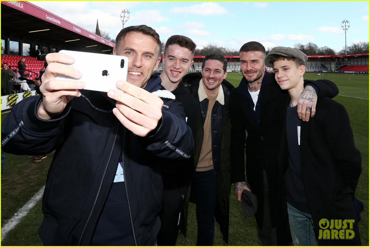 david beckham attends salford city game 11