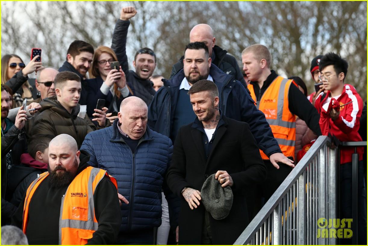 david beckham attends salford city game 13