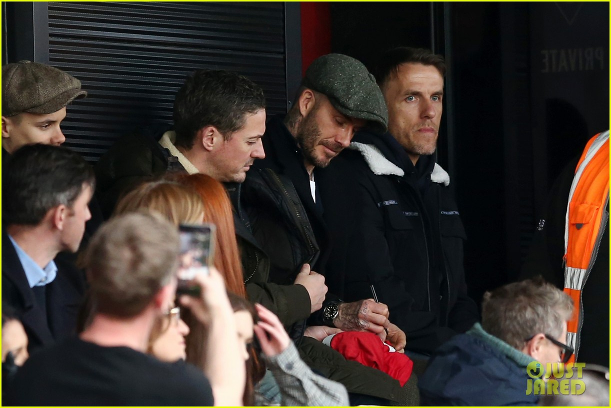 david beckham attends salford city game 24