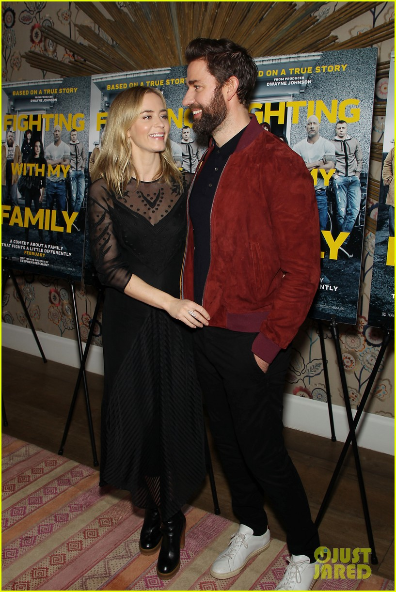 emily blunt and john krasinski couple up for fighting with my family screening 02