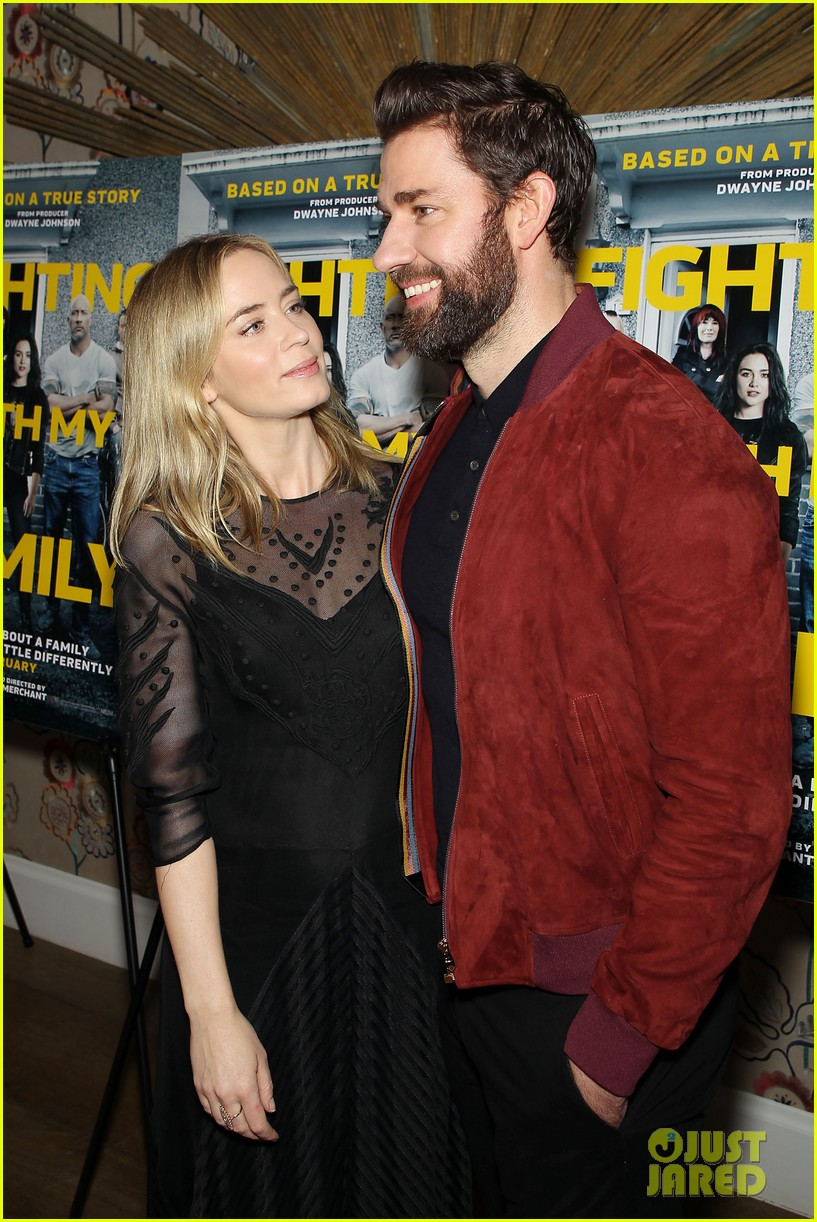 emily blunt and john krasinski couple up for fighting with my family screening 04