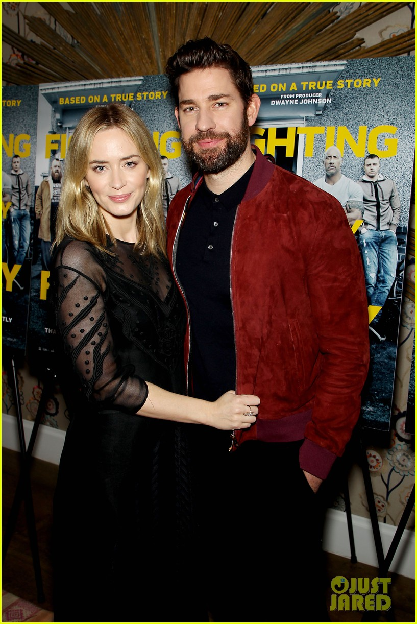 emily blunt and john krasinski couple up for fighting with my family screening 06