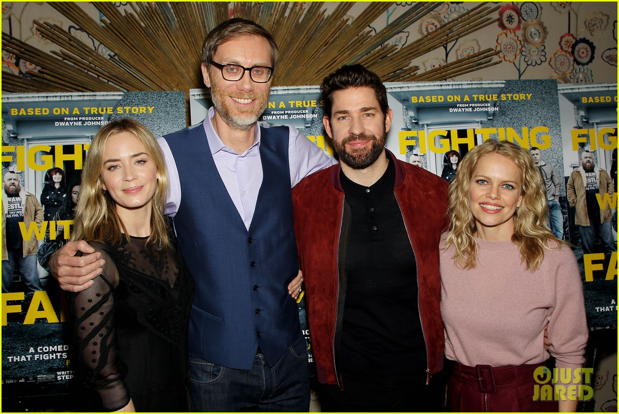 emily blunt and john krasinski couple up for fighting with my family screening 16