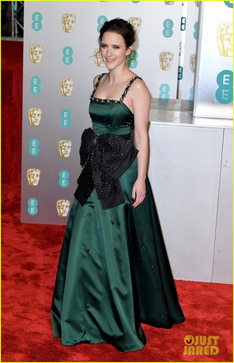 rachel brosnahan amp husband jason ralph couple up at baftas