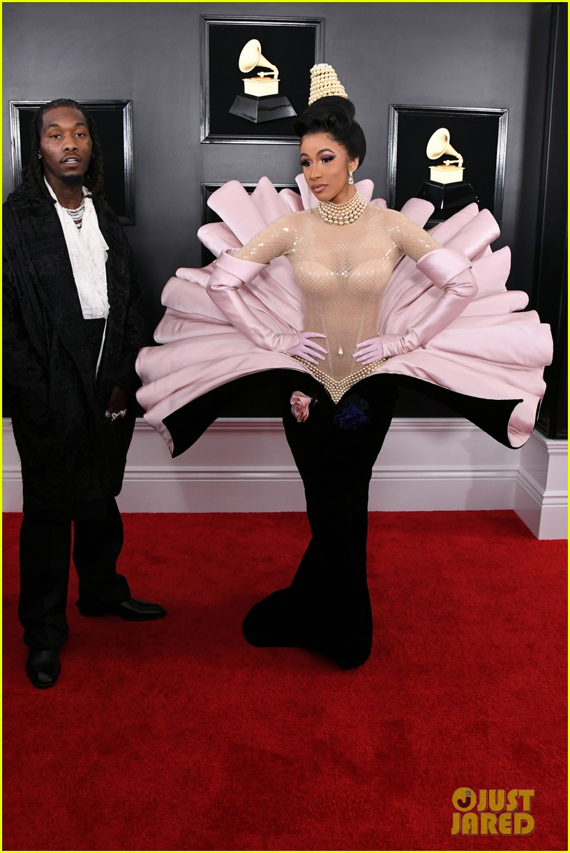 Cardi B Wows On The Red Carpet Alongside Offset At Grammys