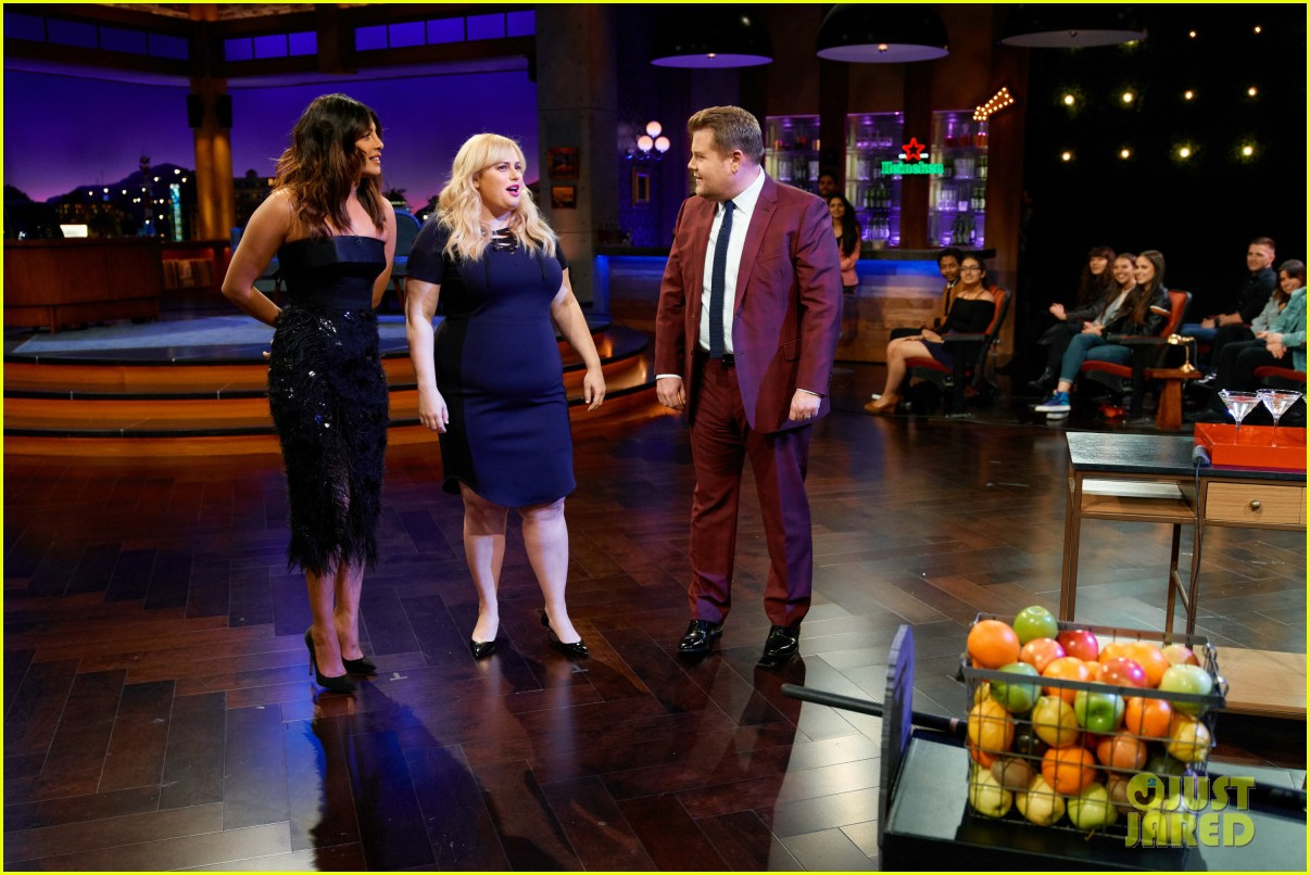 priyanka chopra rebel wilson test their nerves in late late shows flinch game 054238689