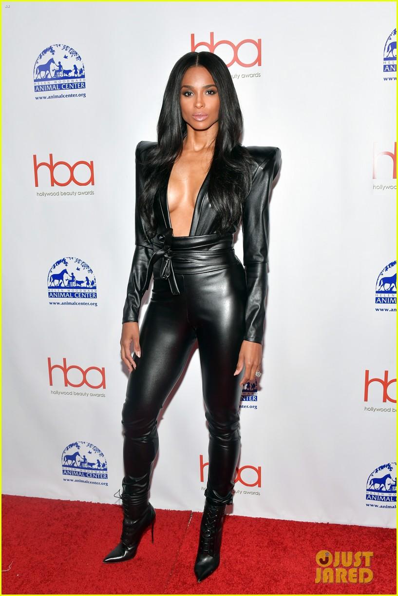 ciara ashlee simpson rock black leather looks for hollywood beauty awards 024240311