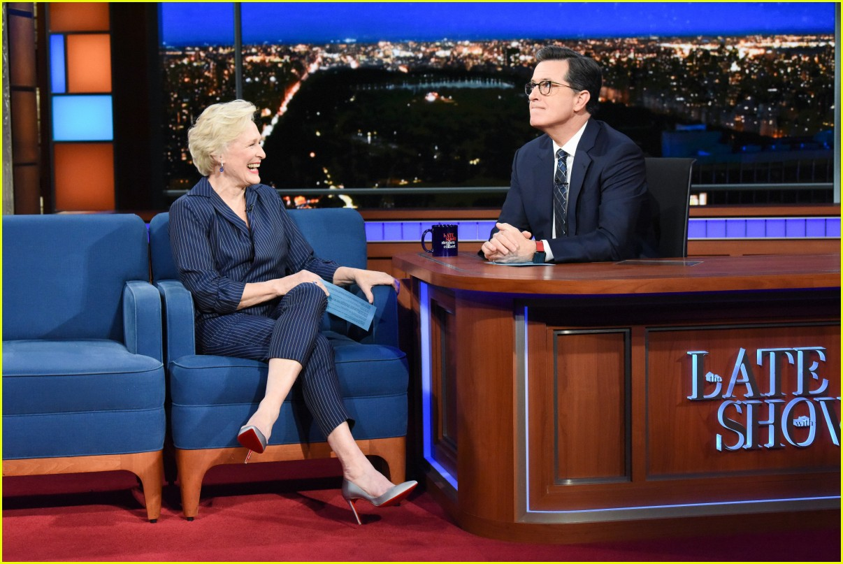 glenn close on colbert show 01