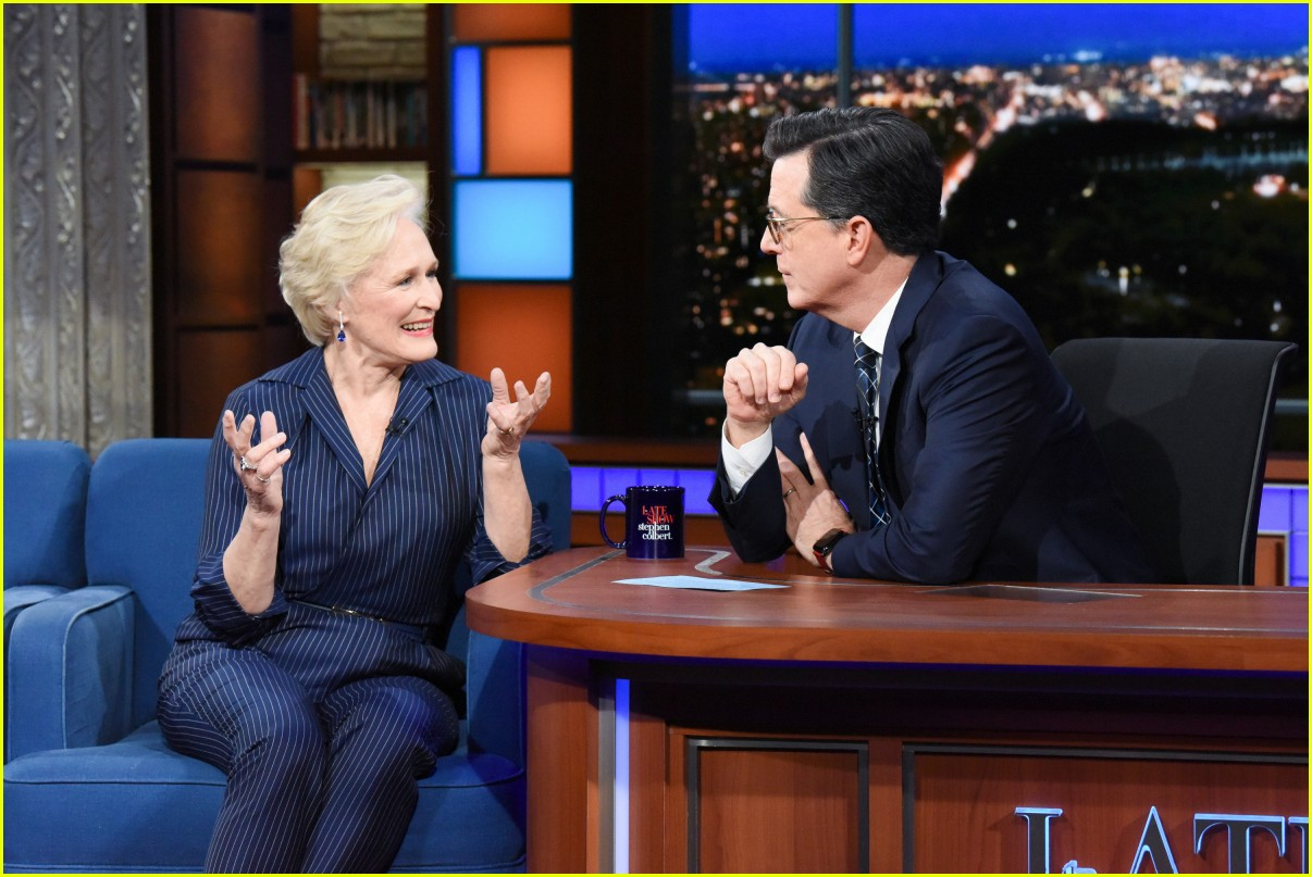 glenn close on colbert show 02