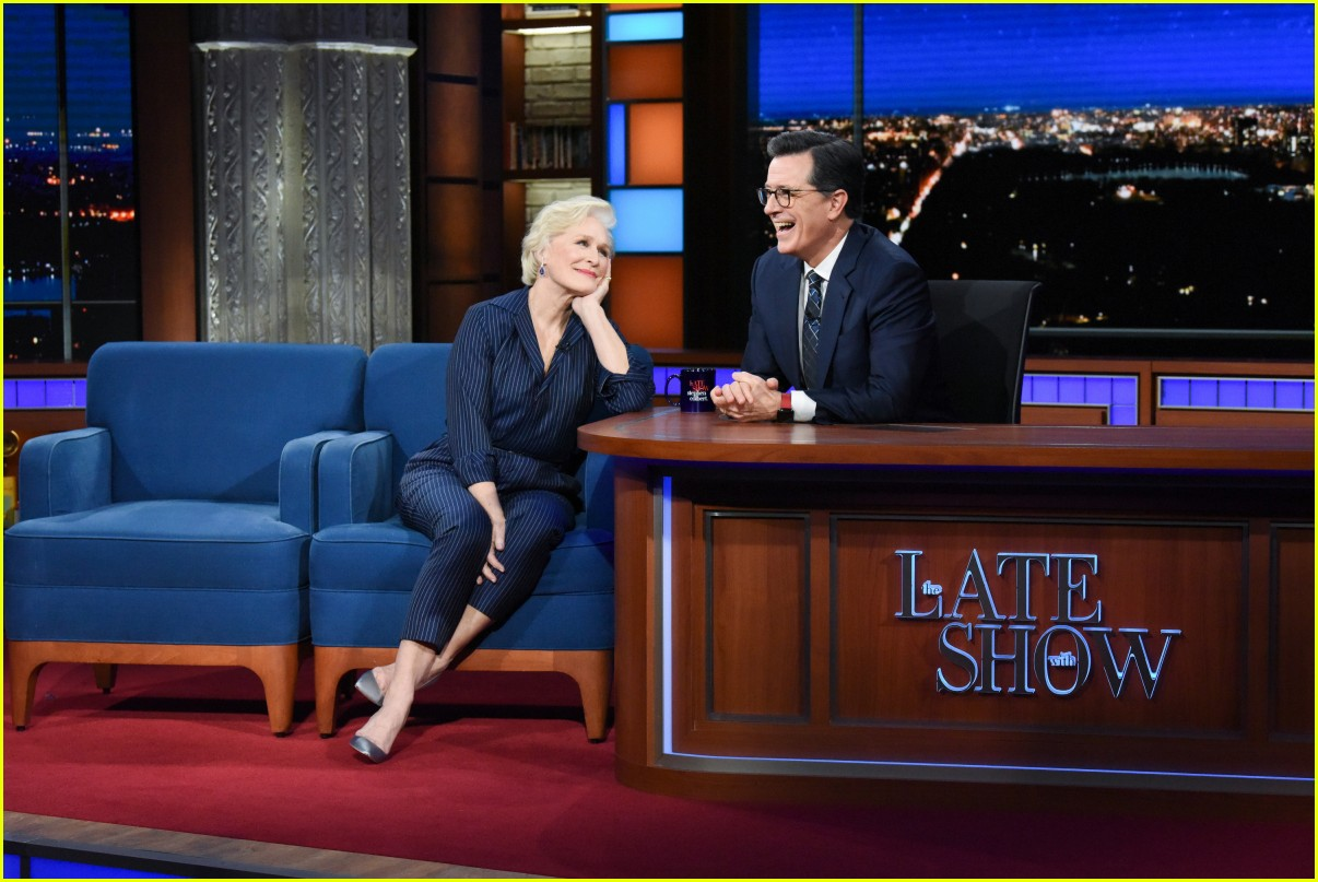 glenn close on colbert show 03