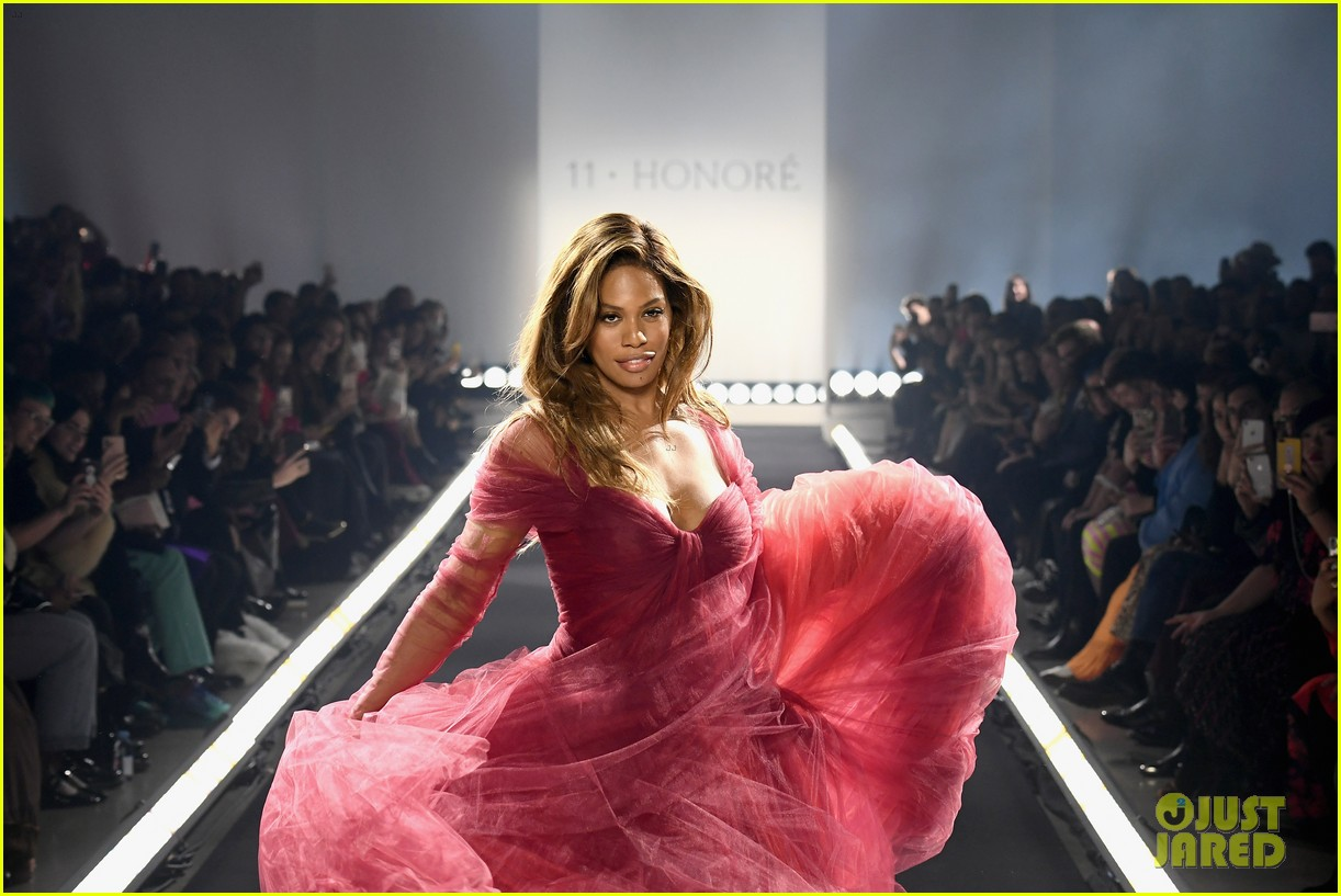 laverne cox wows the runway closing 11 honore nyfw show 024224863