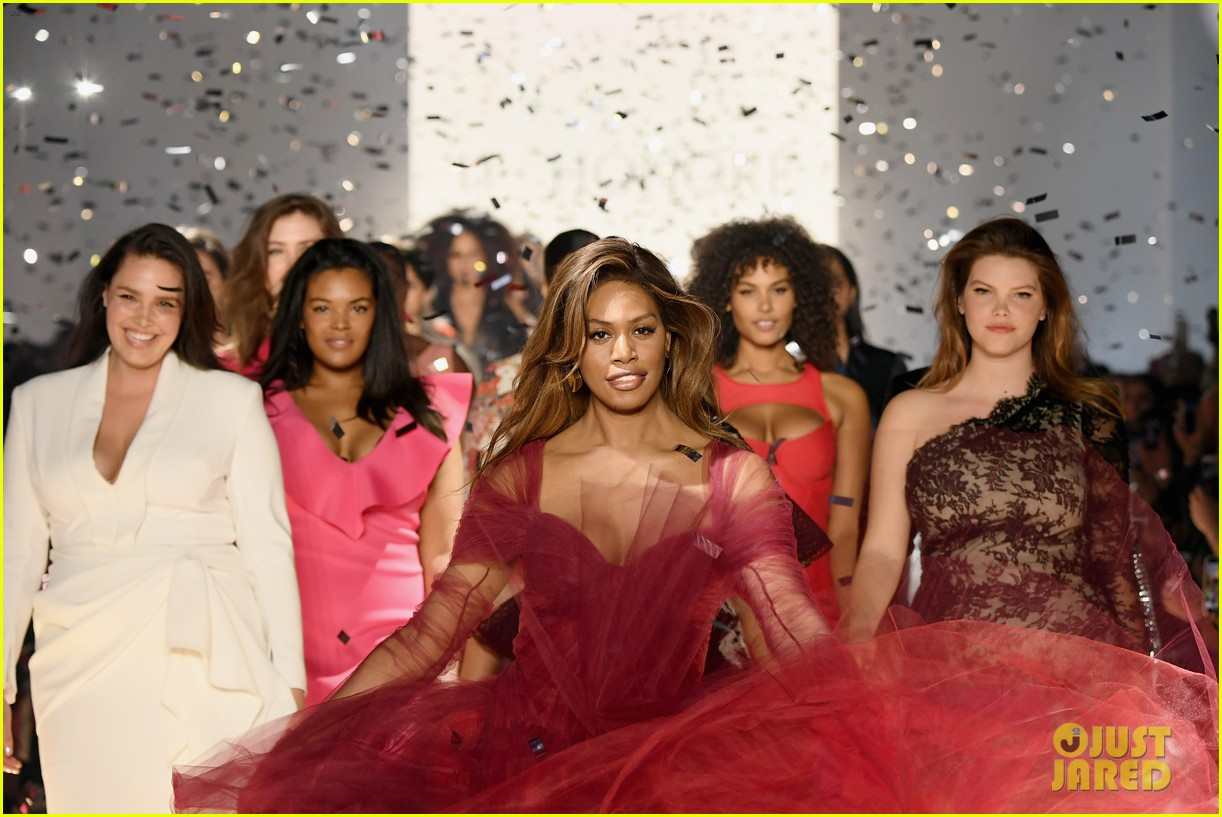 laverne cox wows the runway closing 11 honore nyfw show 054224866