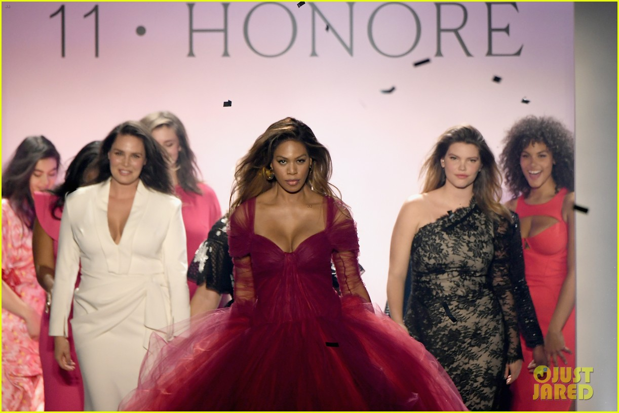 laverne cox wows the runway closing 11 honore nyfw show 074224868