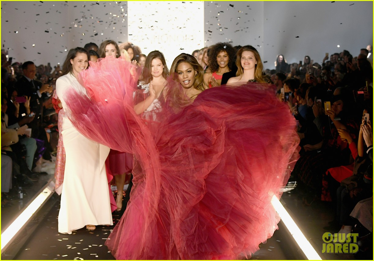 laverne cox wows the runway closing 11 honore nyfw show 084224869