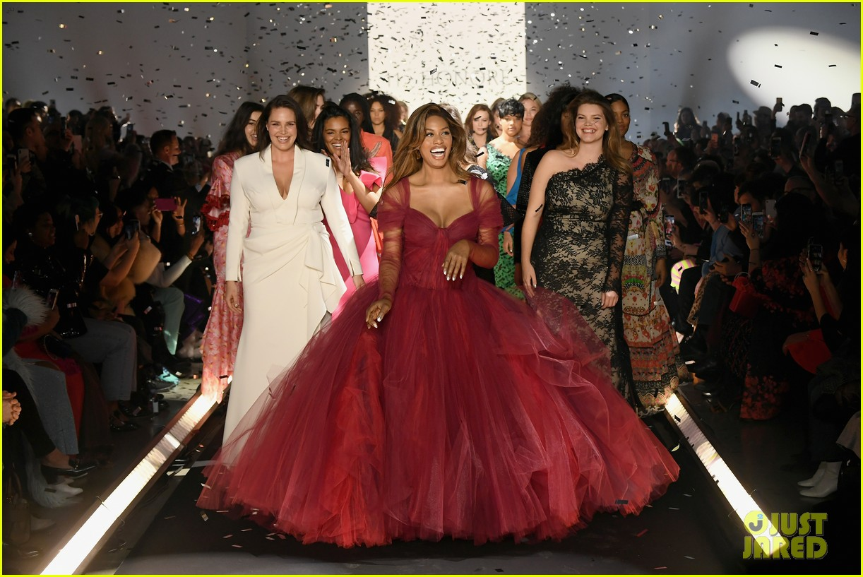 laverne cox wows the runway closing 11 honore nyfw show 094224870